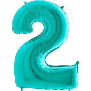 balon miętowy foliowy 2 na urodziny na przyjęcie balony z helem poznań