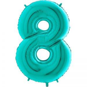 balon miętowy duży 8 cyfra 100cm na urodziny na przyjęcie balon na hel balony z helem poznań