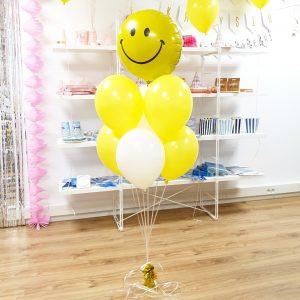 Balon smiley bukiet balonowy żółte balony wesoły bukiet balon zamiast kwiatów balony z helem Poznań