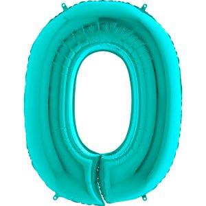 Balon Miętowy Tiffany Blue Balon Cyfra 0 Grabo Mocny Balon Foliowy Duża Cyfra 0 100cm 42 Cale Balony Z Helem Poznań