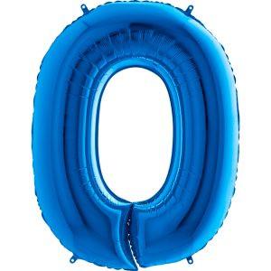 Balon Niebieski Balon Cyfra 0 Grabo Mocny Balon Foliowy Duża Cyfra 0 100cm 42 Cale Balony Z Helem Poznań