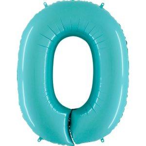 Balon Niebieski Pastelowy Jasno Niebieski Baby Blue Balon Cyfra 0 Grabo Mocny Balon Foliowy Duża Cyfra 0 100cm 42 Cale Balony Z Helem Poznań