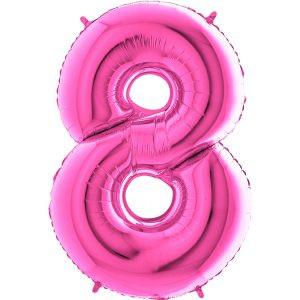 Balon Różowy Balon Cyfra 8 Grabo Mocny Balon Foliowy Duża Cyfra 8 100cm 42 Cale Balony Z Helem Poznań