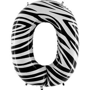 Balon Zebra Zebraloons Nietypowy Balon Cyfra 0 Grabo Mocny Balon Foliowy Duża Cyfra 0 100cm 40 Cali Balony Z Helem Poznań