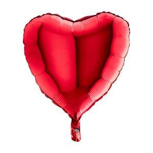 Balon Foliowy Serce Czerwone – 18 Cali