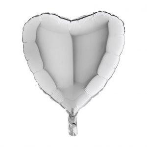 Balon Foliowy Serce Srebrne – 18 Cali