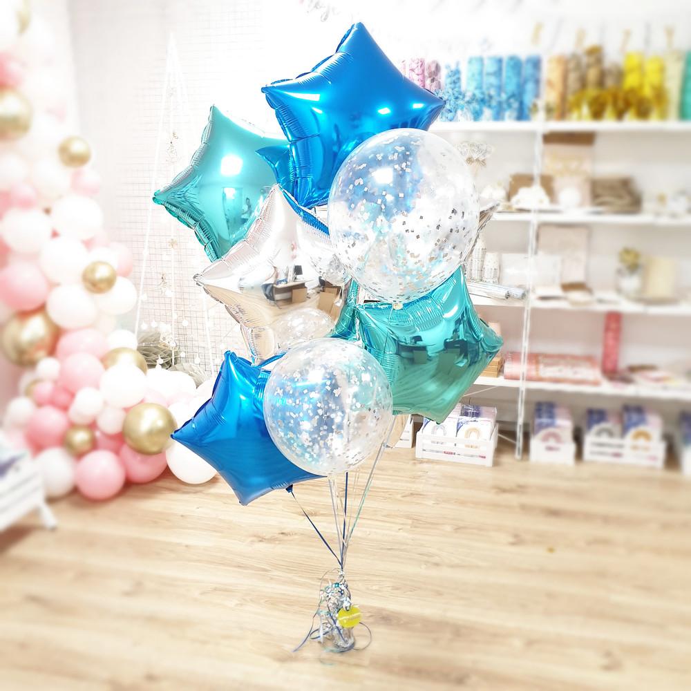 Bukiet Z Balonów Z Helem Balony Foliowe Balony Lateksowe Balony Z Confetti Balony Przezroczyste Balony Poznań Balony Gwiazdki Balony Z Helem PoznaŃ