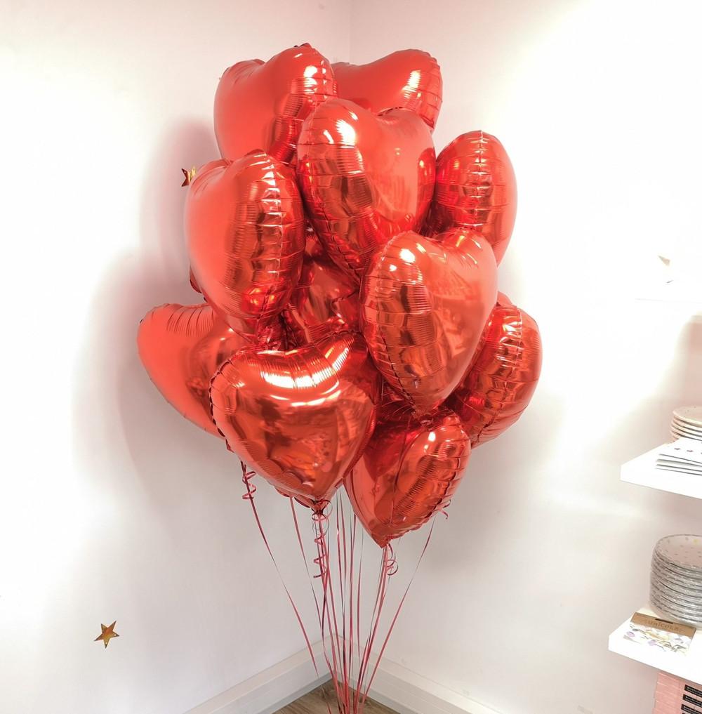 Bukiet z balonów z helem balony z helem serca pomysł na dzień kobiet Balony z helem Poznań