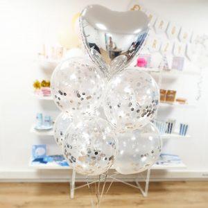 Balony Transparentne Balony Z Konfetti Bukiet Z Balonów Z Helem Balony W Kształcie Serca Pomysł Na Prezent Balony Z Helem Poznań