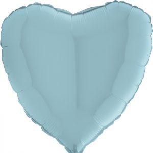 Balony Z Helem Pastelowy Niebieski Serce Romantyczne Balony Z Helem Na Walentynki Poznań