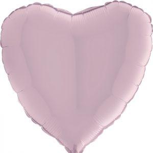 Balony Z Helem Pastelowy Różowy Serce Romantyczne Balony Z Helem Na Walentynki Poznań