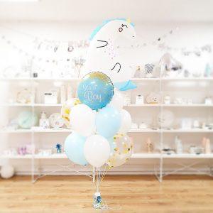 Bukiet Z Balonów Z Helem Dla Dzieci Balony Dla Dziecka Jednorożec Balony Jednorożec It Is A Boy Balony Na Baby Shower Balony Z Helem Poznań