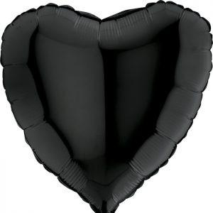 Czarne Serce Balon Balony Z Helem Poznań