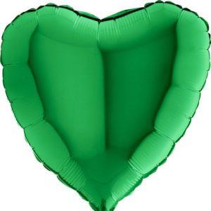 Zielony Balon Serce Walentynkowe Balony Z Helem Poznan