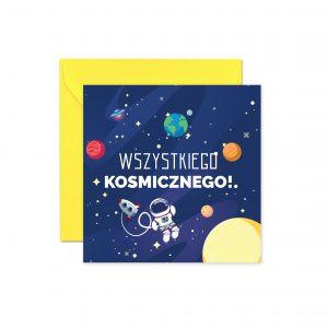 Kosmos Żółta Koperta Kartka Urodzinowa Kartka Na Urodziny Kartki Urodzinowe Balony Z Helem Poznań