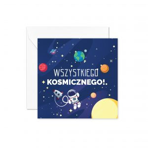 Kosmos Biała Koperta Kartka Urodzinowa Kartka Na Urodziny Kartki Urodzinowe Balony Z Helem Poznań