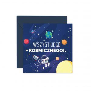 Kosmos Granatowa Koperta Kartka Urodzinowa Kartka Na Urodziny Kartki Urodzinowe Balony Z Helem Poznań