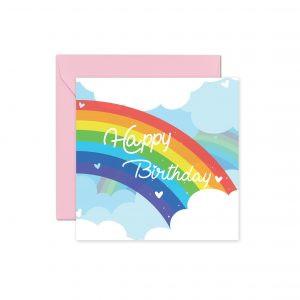 Tęcza Różowa Kartka Urodzinowa Z Tęczą Tęczowa Kartka Urodzinowa Kartka Na Urodziny Balony Z Helem Poznań