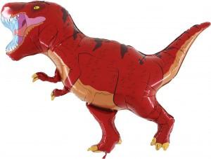 Balon Dinozaur Straszny Balon Z Helem Balony Z Helem Poznań Balony Dinozaury Czerwony