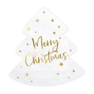 Serwetki świąteczne Serwetki Wigilijne Serwetki Z Napisem Merry Christmas Choinkowe Serwetki Balony Z Helem Poznań Serwetki Ze Złoceniem