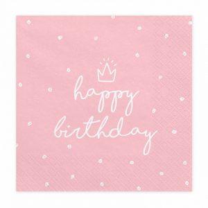 Serwetki Urodzinowe Serwetki Na Urodziny Dla Dziewczyny Serwetki Z Koroną Dla Małej Księżniczki Balony Z Helem Poznań