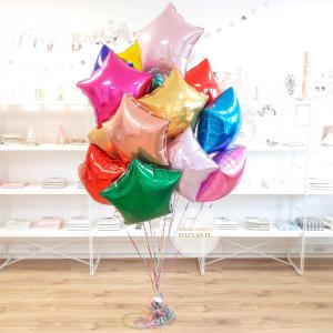 Balony Na Urodziny Kolorowe Balony Bukiet Kolorowych Balonów Balony Gwiazdy Kolorowe Balony Balony Z Helem Poznań