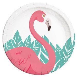 talerzyki flamingo talerzyki imprezowe z flamingiem śmieszne talerzyki imprezowe balony z helem poznań kolekcja flaming