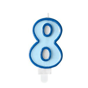 Niebieska świeczka 8 świeczki Cyfry ćwieczka Cyfra świeczka Urodzinowa świeczka Na Tort świeczka Urodzinowa Na Tort świeczki Urodzinowe Poznań świeczka Na Tort W Poznaniu Balony Z Helem