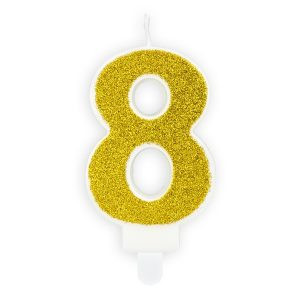 Złota świeczka Cyfra 8 świeczki Cyfry ćwieczka Cyfra świeczka Urodzinowa świeczka Na Tort świeczka Urodzinowa Na Tort świeczki Urodzinowe Poznań świeczka Na Tort W Poznaniu Balony Z Helem
