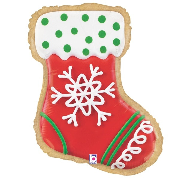35194 27 Inches Foil Shape Stocking Cookie Balloons