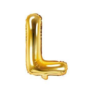 Balon Foliowy L 35 Cm Złoty