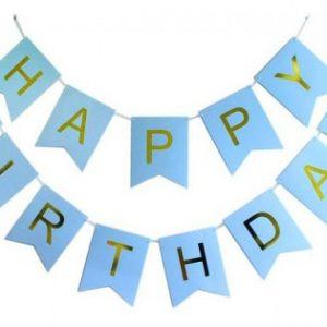 Girlanda Urodzinowa Girlanda Niebieska Girlanda Happy Birthday Baner Balony Z Helem Poznań