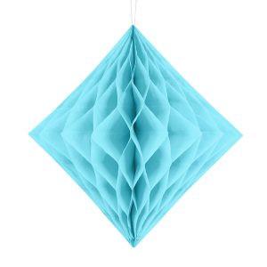 Honeycomb Diament Bibułowa Ozdoba Dekoracja Papierowa Ozdoba Z Papieru Niebieska