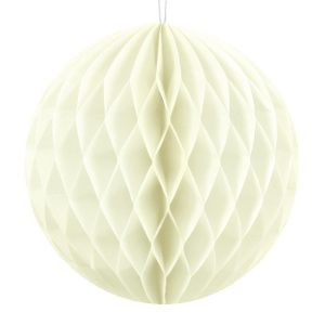 Honeycomb Kula Bibułowa Ozdoba Dekoracja Papierowa Ozdoba Z Papieru Kula Bibułowa Kremowa