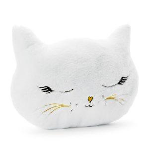 Pluszak Pluszowy Kot Poduszka Biały Kot Balony Z Helem Poznań