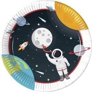 Talerzyki Z Kosmonautą Kosmiczne Talerzyki Papierowe Talerzyki Na Urodziny Talerzyki Papierowe Balony Z Helem Poznań