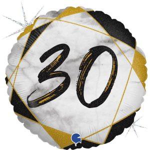Balon Foliowy Marmurkowy Balon Foliowy Na 30 Urodziny Balon Na 30 Balon Urodzinowy Balony Z Helem Poznan