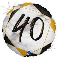 Balon Foliowy Marmurkowy Balon Foliowy Na 40 Urodziny Balon Na 40 Balon Urodzinowy Balony Z Helem Poznan