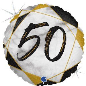 Balon Foliowy Marmurkowy Balon Foliowy Na 50 Urodziny Balon Na 50 Balon Urodzinowy Balony Z Helem Poznan