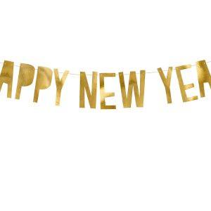 Baner Happy New Year Girlanda Na Nowy Rok