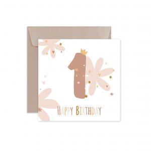 Kartka Urodzinowa Na Roczek Kartka Na Pierwsze Urodziny Dziecka Boho Kartka Urodzinowa Balony Z Helem Poznan