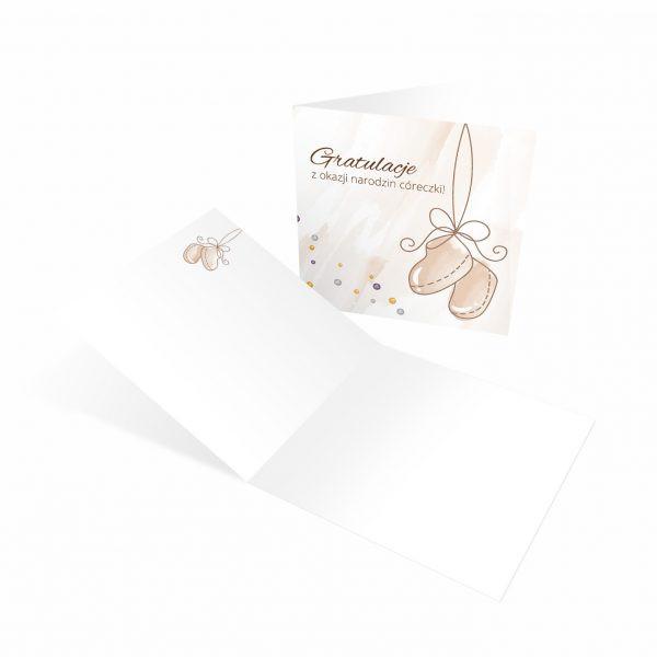 Kartka Na Narodziny Dziecka Poznan Coreczka Kartka Narodzinowa Corka Dziewczynka Balony Z Helem Poznan Kartka Boho