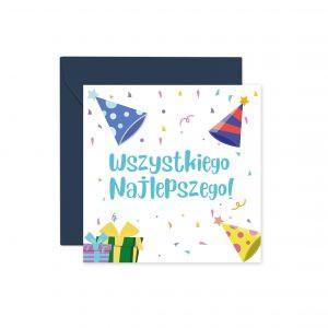 Kartka Na Urodziny Urodzinowa Kartka Kolorowa Kartka Z Koperta Balony Z Helem Poznan