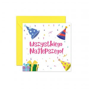 Kartka Urodzinowa Kartka Na Urodziny Kartka Z Okazji Urodzin Kartka Z Kolorowa Koperta Balony Z Helem Poznan