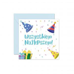 Niebieska Kartka Urodzinowa Kartka Na Urodziny Kartki Na Urodziny Dla Dzieci Kartka Urodzinowa Z Koperta Balony Z Helem Poznan