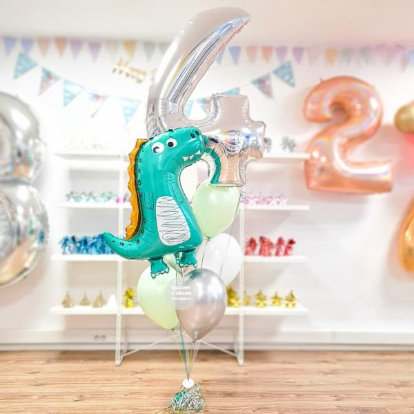 Dinozaur Dla Dzieci Balony Na Urodziny Balony Dinozaur Balon Foliowy Dinozaur Bajkowy Bykiet Balonów